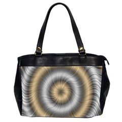 Prismatic Waves Gold Silver Office Handbags (2 Sides)