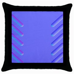 Leftroom Normal Purple Throw Pillow Case (black)