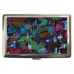 Dark Watercolor On Partial Image Of San Francisco City Mural Usa Cigarette Money Cases