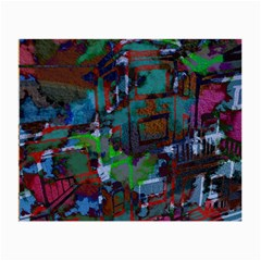 Dark Watercolor On Partial Image Of San Francisco City Mural Usa Small Glasses Cloth