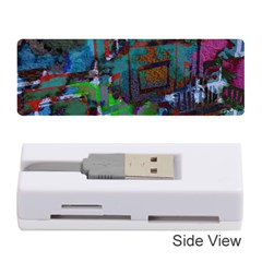Dark Watercolor On Partial Image Of San Francisco City Mural Usa Memory Card Reader (stick)