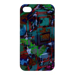 Dark Watercolor On Partial Image Of San Francisco City Mural Usa Apple iPhone 4/4S Hardshell Case