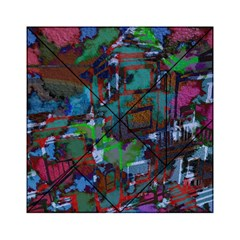 Dark Watercolor On Partial Image Of San Francisco City Mural Usa Acrylic Tangram Puzzle (6  X 6 )