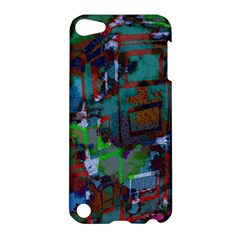 Dark Watercolor On Partial Image Of San Francisco City Mural Usa Apple Ipod Touch 5 Hardshell Case