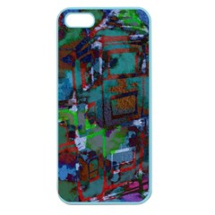 Dark Watercolor On Partial Image Of San Francisco City Mural Usa Apple Seamless Iphone 5 Case (color)
