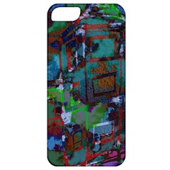 Dark Watercolor On Partial Image Of San Francisco City Mural Usa Apple Iphone 5 Classic Hardshell Case