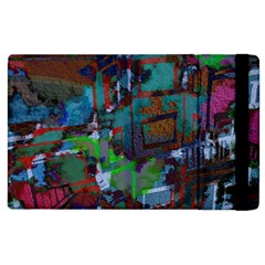 Dark Watercolor On Partial Image Of San Francisco City Mural Usa Apple iPad 2 Flip Case
