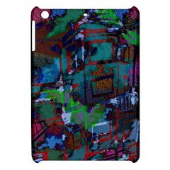 Dark Watercolor On Partial Image Of San Francisco City Mural Usa Apple iPad Mini Hardshell Case