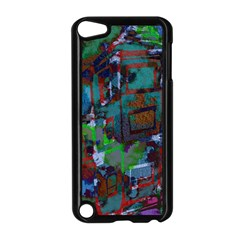 Dark Watercolor On Partial Image Of San Francisco City Mural Usa Apple Ipod Touch 5 Case (black)