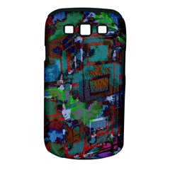 Dark Watercolor On Partial Image Of San Francisco City Mural Usa Samsung Galaxy S III Classic Hardshell Case (PC+Silicone)