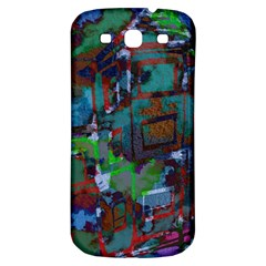 Dark Watercolor On Partial Image Of San Francisco City Mural Usa Samsung Galaxy S3 S III Classic Hardshell Back Case