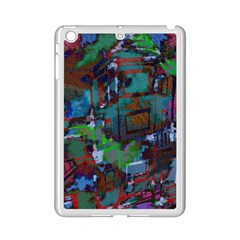 Dark Watercolor On Partial Image Of San Francisco City Mural Usa Ipad Mini 2 Enamel Coated Cases