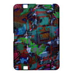 Dark Watercolor On Partial Image Of San Francisco City Mural Usa Kindle Fire Hd 8 9