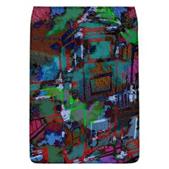 Dark Watercolor On Partial Image Of San Francisco City Mural Usa Flap Covers (L)