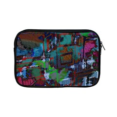 Dark Watercolor On Partial Image Of San Francisco City Mural Usa Apple iPad Mini Zipper Cases