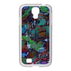Dark Watercolor On Partial Image Of San Francisco City Mural Usa Samsung GALAXY S4 I9500/ I9505 Case (White)