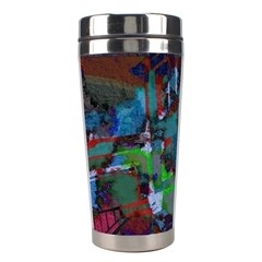 Dark Watercolor On Partial Image Of San Francisco City Mural Usa Stainless Steel Travel Tumblers