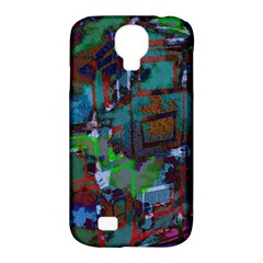 Dark Watercolor On Partial Image Of San Francisco City Mural Usa Samsung Galaxy S4 Classic Hardshell Case (PC+Silicone)
