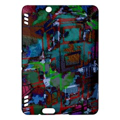 Dark Watercolor On Partial Image Of San Francisco City Mural Usa Kindle Fire HDX Hardshell Case