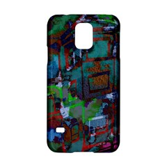 Dark Watercolor On Partial Image Of San Francisco City Mural Usa Samsung Galaxy S5 Hardshell Case