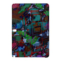 Dark Watercolor On Partial Image Of San Francisco City Mural Usa Samsung Galaxy Tab Pro 10.1 Hardshell Case