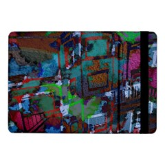 Dark Watercolor On Partial Image Of San Francisco City Mural Usa Samsung Galaxy Tab Pro 10.1  Flip Case