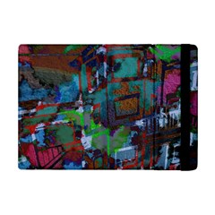 Dark Watercolor On Partial Image Of San Francisco City Mural Usa iPad Mini 2 Flip Cases