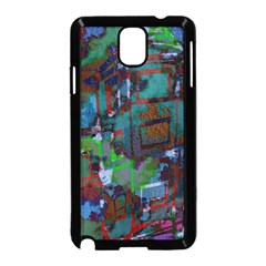 Dark Watercolor On Partial Image Of San Francisco City Mural Usa Samsung Galaxy Note 3 Neo Hardshell Case (Black)