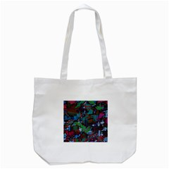 Dark Watercolor On Partial Image Of San Francisco City Mural Usa Tote Bag (White)