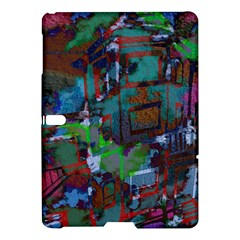 Dark Watercolor On Partial Image Of San Francisco City Mural Usa Samsung Galaxy Tab S (10.5 ) Hardshell Case