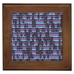 Techno Fractal Wallpaper Framed Tiles