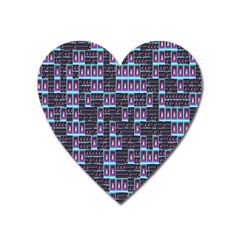Techno Fractal Wallpaper Heart Magnet