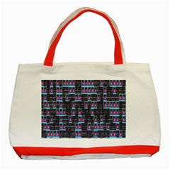 Techno Fractal Wallpaper Classic Tote Bag (Red)