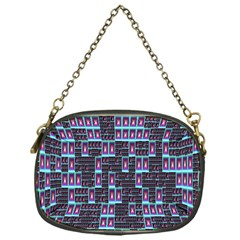 Techno Fractal Wallpaper Chain Purses (one Side)