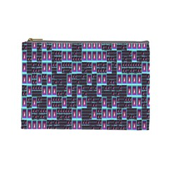 Techno Fractal Wallpaper Cosmetic Bag (large)