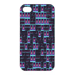 Techno Fractal Wallpaper Apple Iphone 4/4s Hardshell Case