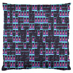 Techno Fractal Wallpaper Large Cushion Case (two Sides)