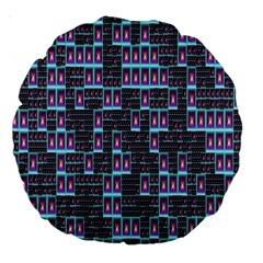 Techno Fractal Wallpaper Large 18  Premium Round Cushions