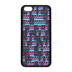Techno Fractal Wallpaper Apple iPhone 5C Seamless Case (Black)