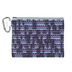 Techno Fractal Wallpaper Canvas Cosmetic Bag (L)