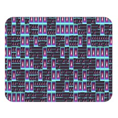 Techno Fractal Wallpaper Double Sided Flano Blanket (Large)