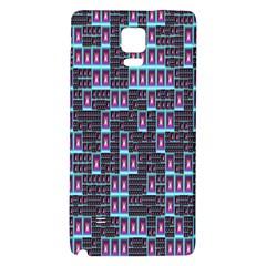 Techno Fractal Wallpaper Galaxy Note 4 Back Case