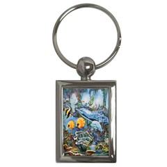 Colorful Aquatic Life Wall Mural Key Chains (Rectangle)
