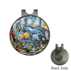 Colorful Aquatic Life Wall Mural Hat Clips with Golf Markers