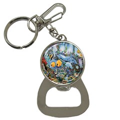 Colorful Aquatic Life Wall Mural Button Necklaces