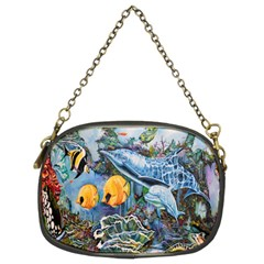 Colorful Aquatic Life Wall Mural Chain Purses (two Sides)