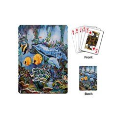 Colorful Aquatic Life Wall Mural Playing Cards (mini)
