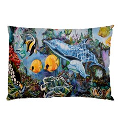 Colorful Aquatic Life Wall Mural Pillow Case (two Sides)