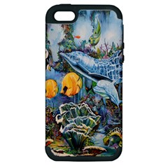 Colorful Aquatic Life Wall Mural Apple iPhone 5 Hardshell Case (PC+Silicone)
