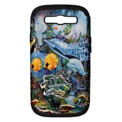 Colorful Aquatic Life Wall Mural Samsung Galaxy S III Hardshell Case (PC+Silicone)